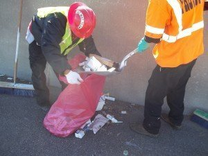 Protect team removes medical waste illegally dumped on a North Texas roadway.