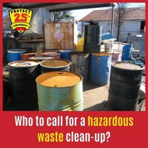 Hazardous waste clean-up service