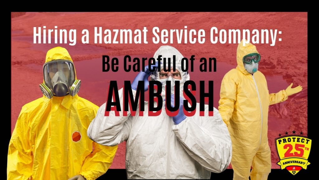 Hazmat service company for hire