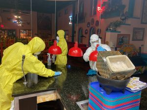 Cleaning Coronavirus in Dallas.
